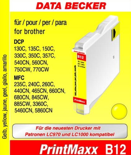 Data Becker 311041 B12 Tintenpatrone für Brother Series gelb