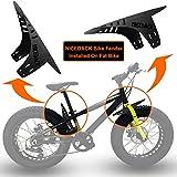 NICEDACK Guardabarros MTB, Guardabarros Bicicleta Montaña, MTB Mudguard Delantero y Trasero Compatible se Adapta a 26'650B 27,5' 29 Pulgadas de Bici y Bicicleta Fat