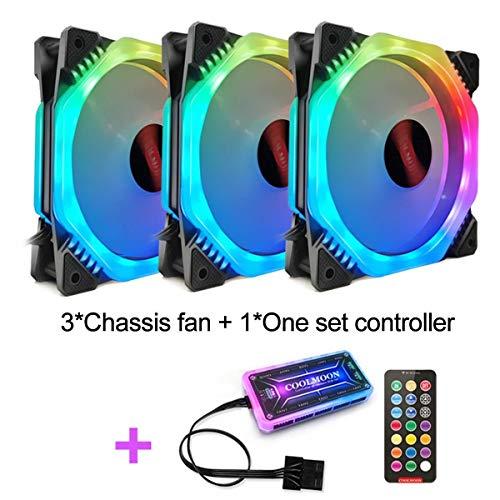 Ventilador RGB fija de 120 mm ajustable ordenador PC de la caja de refrigeración silencioso ventilador remoto controlador del ventilador de enfriamiento del refrigerador del ordenador 12cm RGB Case Fa