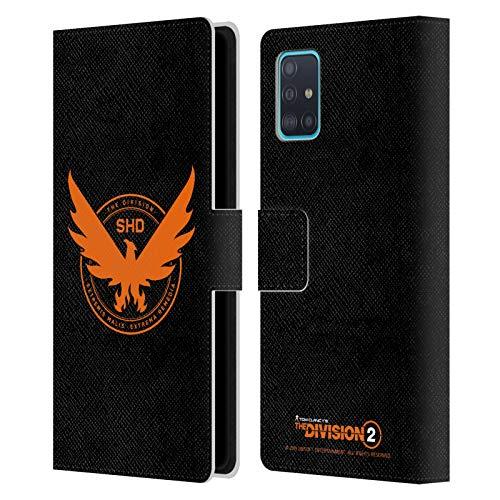 Head Case Designs Offizielle Tom Clancy's The Division 2 Phoenix Logo Kunst Leder Brieftaschen Huelle kompatibel mit Samsung Galaxy A51 (2019)