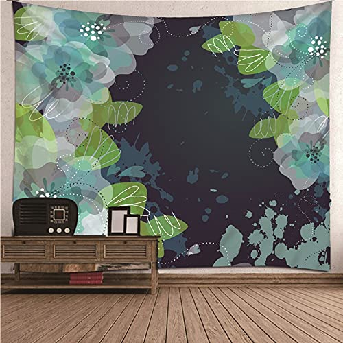 KnBoB Tapiz para Pared Patrón de Flores 240x220 CM Tejido Poliéster Impresión Digital Decoracion Salon Modernos