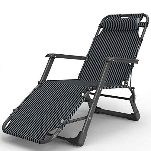 AKSHOME Patio Chairs Reclining For Heavy People,Heavy-Duty Zero-Gravity Chair, Adjustable Sun Lounger For Garden Beach Lawn Swimming Pool Greenhouse, Deck Chair-Black Rod Striped Chair