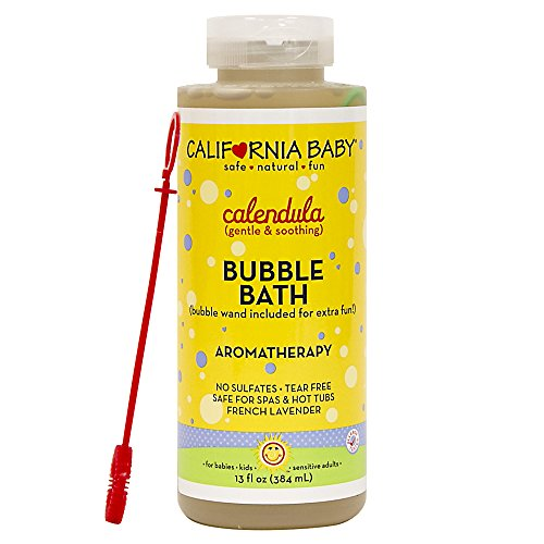 California Baby Calendula Bubble Bath | No Tear | Pure Essential Oils for Bathing | Hot Tubs, or Spa Use | Moisturizing Organic Aloe Vera and Calendula Extract |(13 fl. ounces)