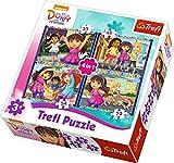 Puzzle 4w1 Dora i przyjaciele