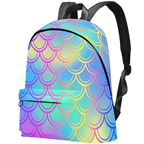 Staroutah zaino bookbag daypack borsa da scuola escursionismo Laptop backpacking Borsa da viaggio all'aperto ad alta capacità e moda Borsa da lavoro Pelle di pesce rosa blu