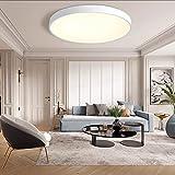 MOONSEA Plafon LED Techo 24W, Blanco Cálido 3500K Ø40*5CM Lámpara de Techo Moderna Redondo Para Habitacion Cocina Sala de Estar Dormitorio Pasillo Comedor Balcón - Blanco