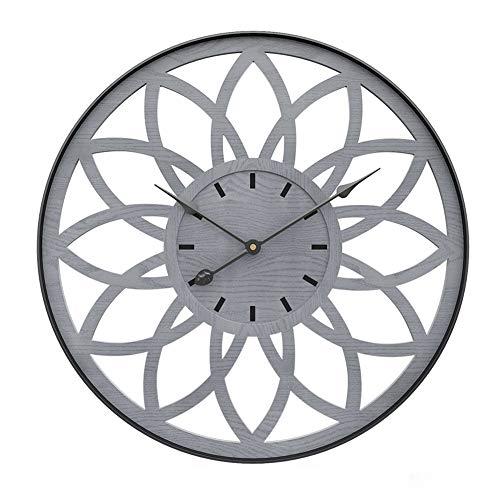 Nordic Eenvoud Wall Clock, Metal Vintage Unique wandklokken 20inches Grote Silent decoratieve Hangende Klokken for Slaapkamer Woonkamer Office