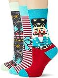Urban Classics Unisex Christmas Nutcracker 3-Pack Socken, Multicolor, 43-46
