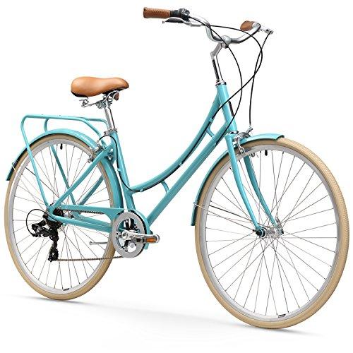 "sixthreezero Ride in the Park Women's 7-Speed City Road Bicycle, Blue, 17"" Frame/700x32c Wheels"