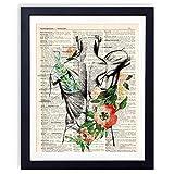 Yuzi-n Anatomie-Kunstdruck, medizinische Schule, Abschluss, Arzt, Arzt, Büro, Dekoration, Sozialarbeiter, Abschlussgeschenk, Ergotherapeuten-Geschenk
