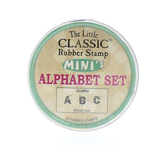 Little Classic Mini's Alfabet stempel Set - Graffiti lettertype