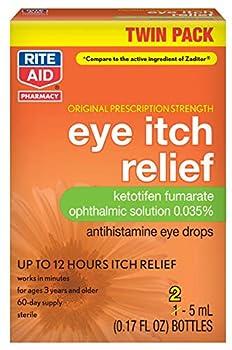 Rite Aid Eye Itch Relief Antihistamine Eye Drops Original Prescription Strength 0.17 fl oz 2 Count