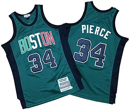 Ropa de baloncesto para hombres, Celtics de Boston 34 # Paul Pierce Swingman Nba Jersey, deportes al aire libre Uniformes de baloncesto Camiseta sin mangas Camiseta deportiva Chaleco superior,Xxl