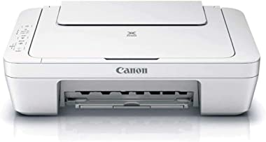 Canon PIXMA MG Series All-in-One Color Inkjet Printer, White - 3-in-1 Print, Scan, and Copy or Home Business Office, Up to 48