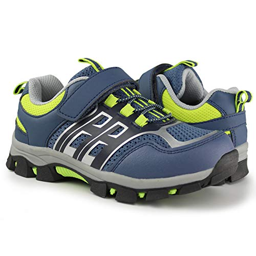 Hawkwell Kids Outdoor Athletic Hiking Shoes,Blue Mesh,11 M US Little Kid