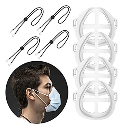 VoPee 3D Bracket for Internal Support Nose,Clear Face Comfortable Holder Frame with Lanyard 4 Pcs