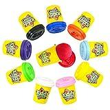 Kiddy Dough 10 Paquete de plastilina de Color – Construido en modelar y Esculpir Playset con 10 latas Individuales de 2 onzas