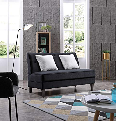 Glory Furniture Benedict Settee Love Seats, Black