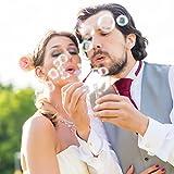 WeddingTree® Premium Seifenblasen Set in Regenbogen-Farben - 48 teilig mit Herzgriff - herzallerliebst für Hochzeit Taufe Geburtstag Goldene Hochzeit Verlobung Valentinstag Gastgeschenk Party - 6
