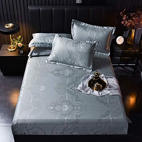 DS- Bamboo Mattress Carbonized bamboo sleeping mat,Summer home double European light jacquard bed libingsi soft mat (15 models) && (Color : O, Size : 1.8x2m)