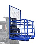 Plataforma apiladora Jaula de seguridad Jaula de trabajo Apiladora | 250 kg Carga útil | 1150 mm x 1080 mm Tamaño