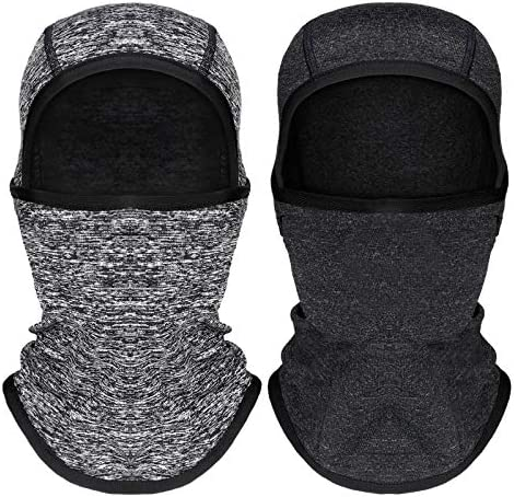 2 Pieces Kids Balaclava Windproof Ski Face Covering for Cold Weather Children Fleece Neck Warmer product image