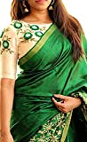 Hinfy Export Women's Beauty Beautifull Khadi Silk Designer Offer Saree With Blouse Piece (Green)