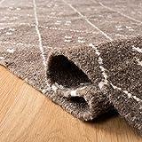 Safavieh Natürlicher Kelim-Teppich, NKM316, Flachgewebter Wolle Läufer, Braun / Elfenbein, 68 x 182 cm - 6