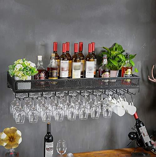 XLTFZY Estante para Vino, Estante para Copas de Vino, Bar, Discoteca, Lujo, Portavasos para Armario, Estante para Almacenamiento,Los 80 * 35Cm