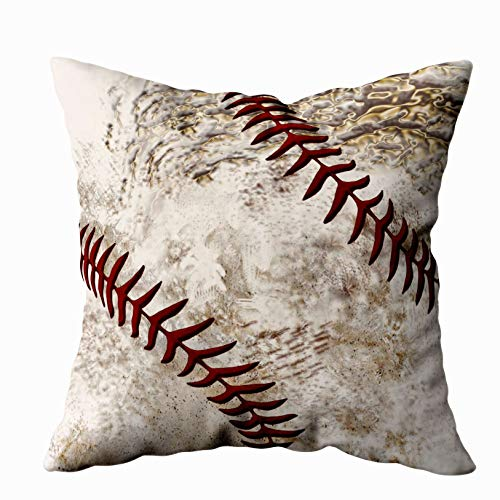 Shorping Zippered Pillow Covers Pillowcases 16X16 Inch super cool round dirty baseball for guys Decorative Throw Pillow Cover ,Pillow Cases Cushion Cover for Home Sofa Bedding
