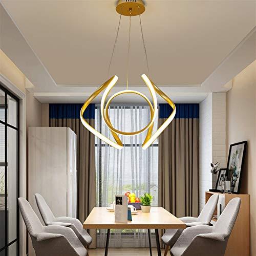 Vinteen Golden Tint Light LED Luz de techo Lámpara de techo Lámpara de techo Home Master Habitación Habitación Calidad Personalidad Nórdico Iluminación de oro Aluminio Techo Control Remoto Control Rem