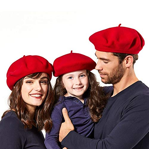 Laulhère Beret Basque Heritage Made in France Femme/Women's Rouge-Red Taille (55-56) S