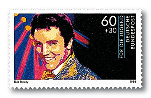 Elvis Presley | Briefmarke |postfrisch | Deutsche Bundespost |Pfennig |Ikone der Musik |Plattencover |Sänger | Musiker | King of Rock 'n' Roll
