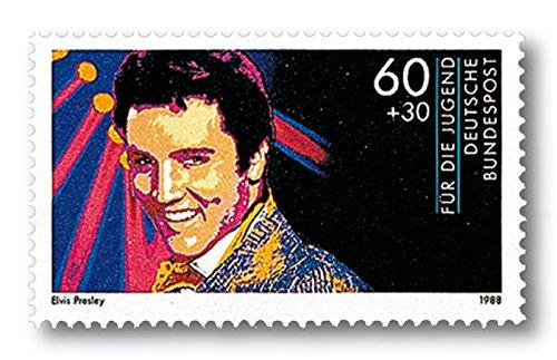 Elvis Presley | Briefmarke |postfrisch | Deutsche Bundespost |Pfennig |Ikone der Musik |Plattencover |Sänger | Musiker | King of Rock \'n\' Roll