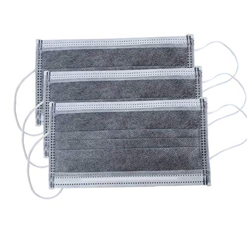 Filtros de polvo facial, 50 unidades, 3 capas de protección transpirable 50 pcs gris