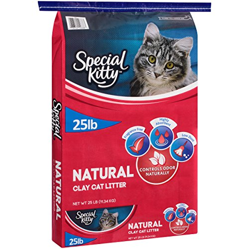 Natural Clay Cat Litter That Controls Odor Naturally, 25 Lb by Special Kitty