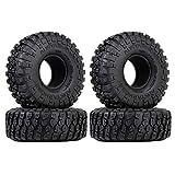 INJORA Neumáticos de Goma RC 4Pcs 1.9inch Juego de neumáticos de Goma RC Neumáticos para 1/10 RC...