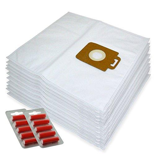 Spares2go Sacs Chiffon de nettoyage en microfibre pour Nilfisk Power P10 P12 P20 P40 Aspirateur (lot de 10 + 10 désodorisants)