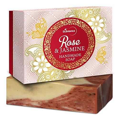 StBotanica Rose & Jasmine Handmade Luxury Soap, 125 g (STBOT546)