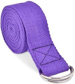Yoga Stretch Strap D-Ring Belt Waist Leg Fitness 180CM adjustable