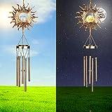 Achort Carrillon de Viento Exterior Solar Powered LED Windch