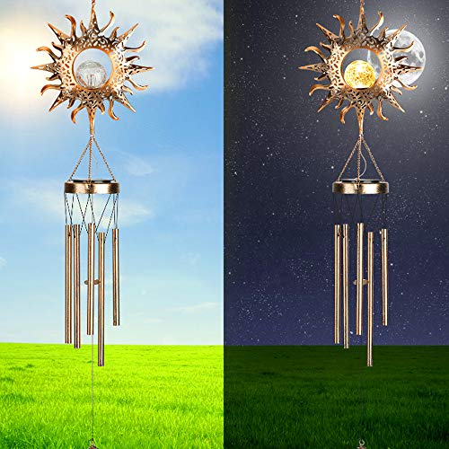 Achort Campanelli eolici Campanelli eolici da Giardino Impermeabile per Interni da Esterni Adatti LED Light Carillon Giardino Domestico Decorazione da Giardino Campanelli per Interni da Giardino