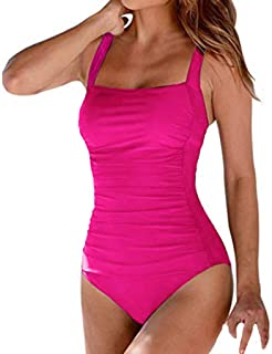 UNBER Women's Athletic Training Adjustable Strap One Piece Swimsuit Swimwear Bathing Suit Control Swimsuit