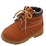 LNGRY 1-3T Toddler Baby Boy Girl Army Style Martin Boot Winter Warm Shoes (18-24 Months, Coffee)