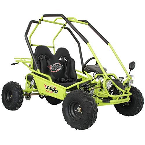 X-PRO 125cc Youth Go Kart Dune Buggy 7.1hp Gokart Child 125cc Go Kart GK 125 (Yellow)