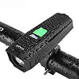 AMAIRS Luce per Bicicletta a LED, Illuminazione per Torcia con Luce Abbagliante con Ricarica USB per Materiale da Notte Impermeabile