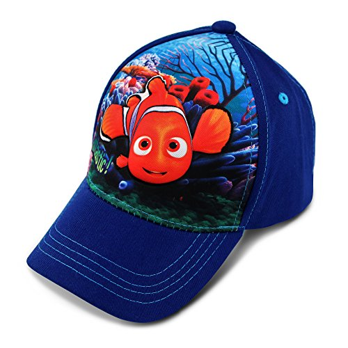 Disney Toddler Girls' Finding Nemo Character 3D Pop Baseball Cap, White/Blue, Age 2-4