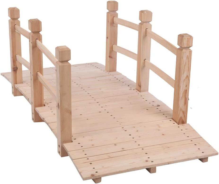 Wooden Garden Bridge with Wood Ar Classic Courtyard Direct Max 45% OFF stock discount Color