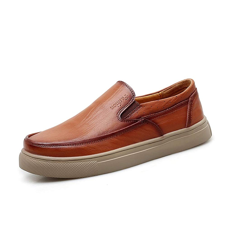 [Jusheng-shoes] メンズシューズ オックスフォードシューズメンズフォーマルシューズスリップ本革シンプルで快適な丸いつま先 カジュアルシューズ
