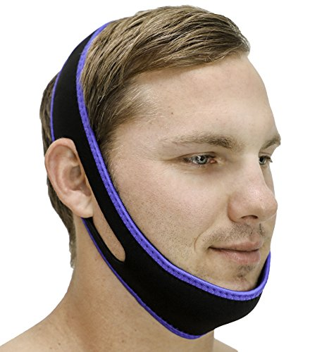 SleepEZzzz Anti-Schnarch-Kinnriemen, kundengerechtes Anti-Schnarch-Gerät, beste Lösung für Mund Schnarch, verstellbar, bequem und einfach zu bedienen, eine Schnarch hilfe, die funktioniert